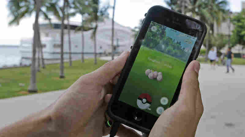 A Pokémon is found by a Pokémon Go player at Bayfront Park in downtown Miami. Businesses are looking for ways to profit from the 65 million Pokémon Go users in the United States alone.