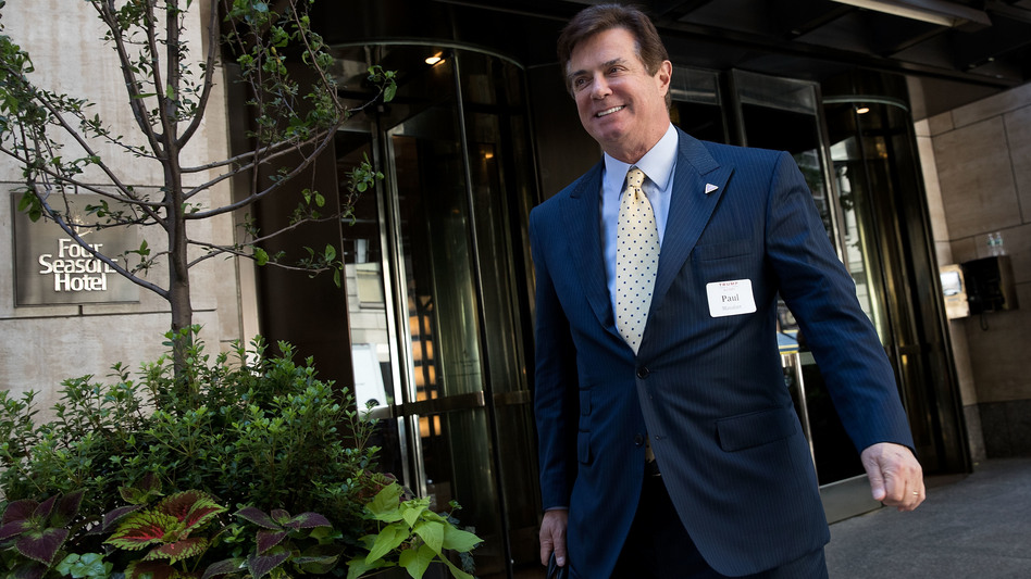 Paul Manafort leaves the Four Seasons Hotel after a meeting with Donald Trump and Republican donors last month in New York City. (Drew Angerer/Getty Images)