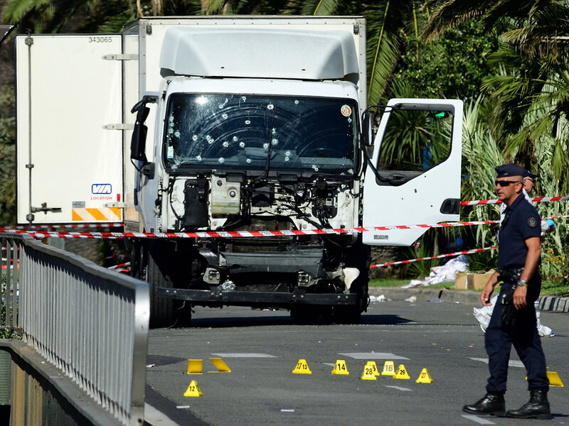 Nice truck attack, front has gone