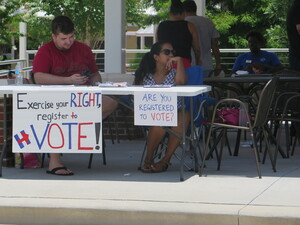Democratic candidates visited the Central Florida Democratic Hispanic Caucus Voting Festival and Mock Election, which took place in Kissimmee, Fla.