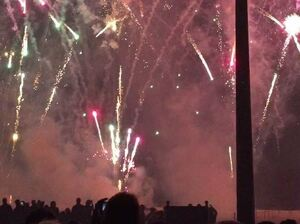 NPR's Scott Simon and his family enjoyed the Bastille Day fireworks in Deauville, France.