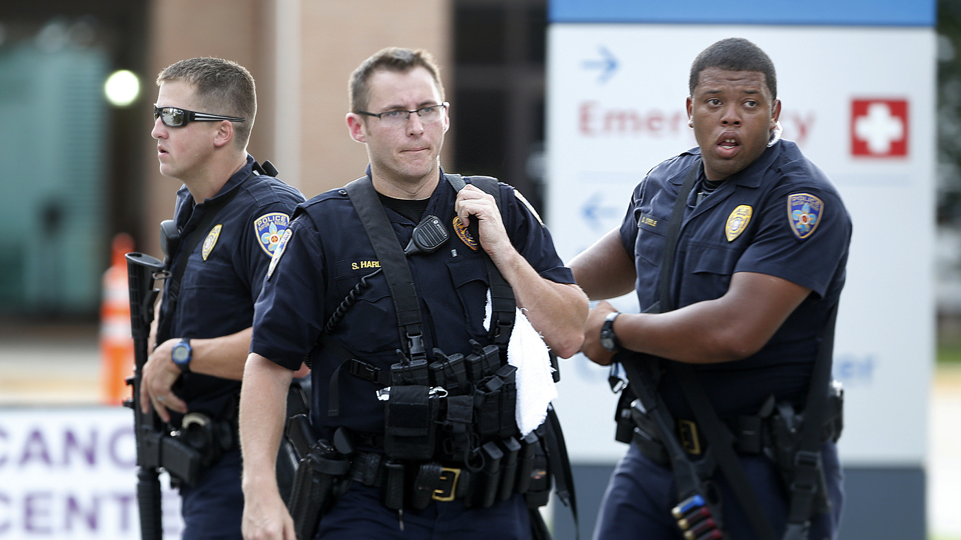 baton rouge shooting police officers killed wounded in baton rouge shooting 3 police officers killed 3 wounded in attack the two way npr