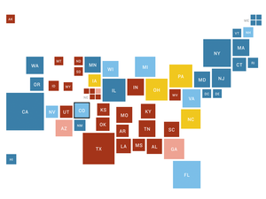 NPR Electoral College battleground map for July 17, 2016