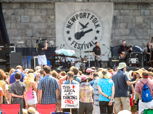 This area is for dancing only, at the Newport Folk Festival!