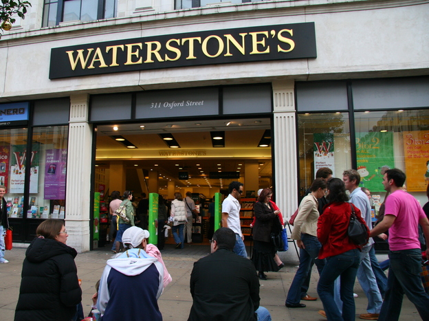 The Waterstone's on Oxford Street in London — now closed — used to crack jokes on Twitter (thanks to Jonathan O'Brien).