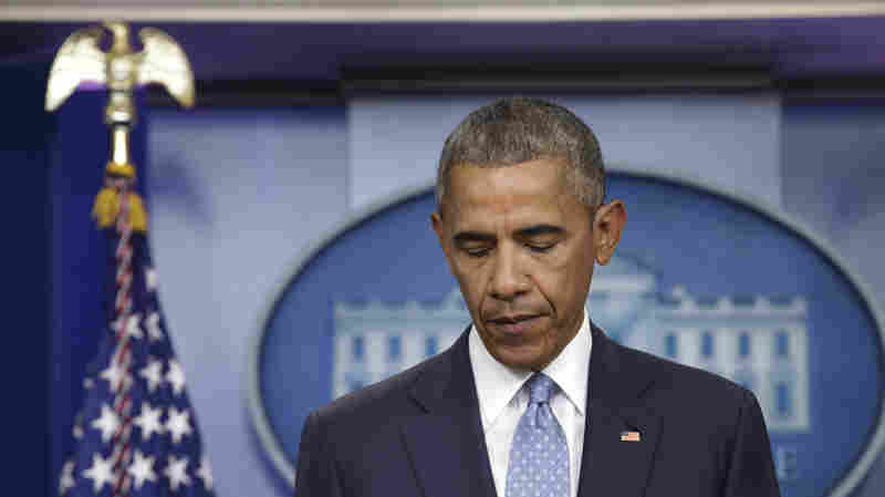 President Obama makes a statement at the White House about the deadly shooting of police officers in Baton Rouge, La., on Sunday. A day later, he sent an open letter to the nation's law enforcement officers expressing his condolences and support.