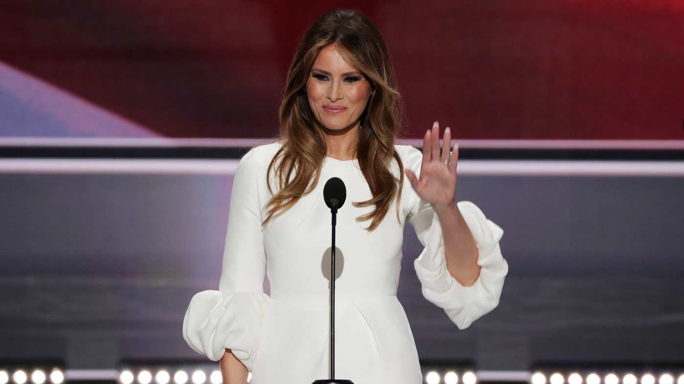 Melania Trump Speech Mirrors Section From Michelle Obama's In 2008 : NPR