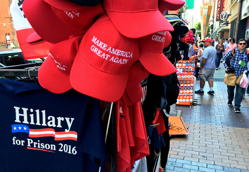 66afb882 Donald Trump T-Shirt Vendors Profit Big Time In Cleveland During RNC ...