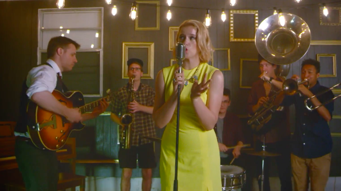 "Hannah Gill & The Hours in a scene from the video for ""Austin."""