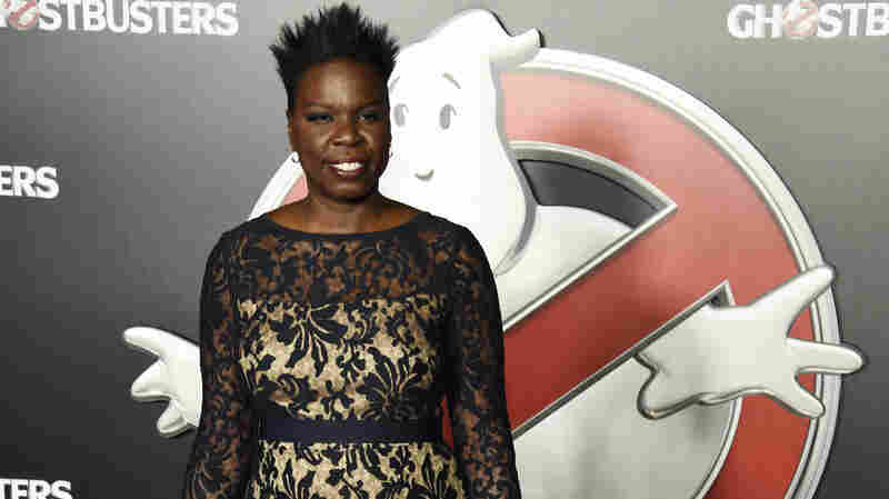 Leslie Jones poses backstage during the Sony Pictures Entertainment presentation at CinemaCon 2016, the official convention of the National Association of Theatre Owners, at Caesars Palace on April 12, 2016, in Las Vegas.