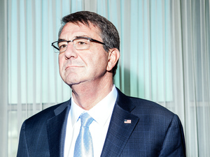 Defense Secretary Ash Carter, shown here at his Pentagon office in February, said the attempted coup in Turkey last week caught everyone by surprise. But he does not believe it will harm the battle against the Islamic State in Syria. The U.S. uses an air base in Turkey to launch strikes against ISIS.