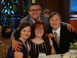 Born This Way is produced by Jonathan Murray, the co-creator of MTV's Real World. Above, cast members Cristina Sanz (left), Rachel Osterbach, Steven Clark and Sean McElwee (top).