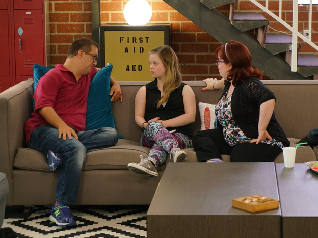 The A&E docu-series <em>Born This Way</em> was recently nominated for three Emmys. Sean McElwee (left) Megan Bomgaars, Rachel Osterbach and John Tucker star in the second season which premieres July 26.