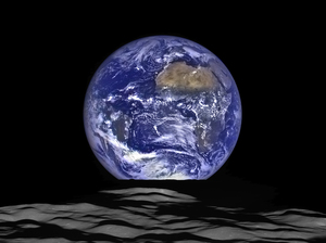 NASA's Lunar Reconnaissance Orbiter (LRO) captured a unique view of Earth from the spacecraft's vantage point in orbit around the moon.