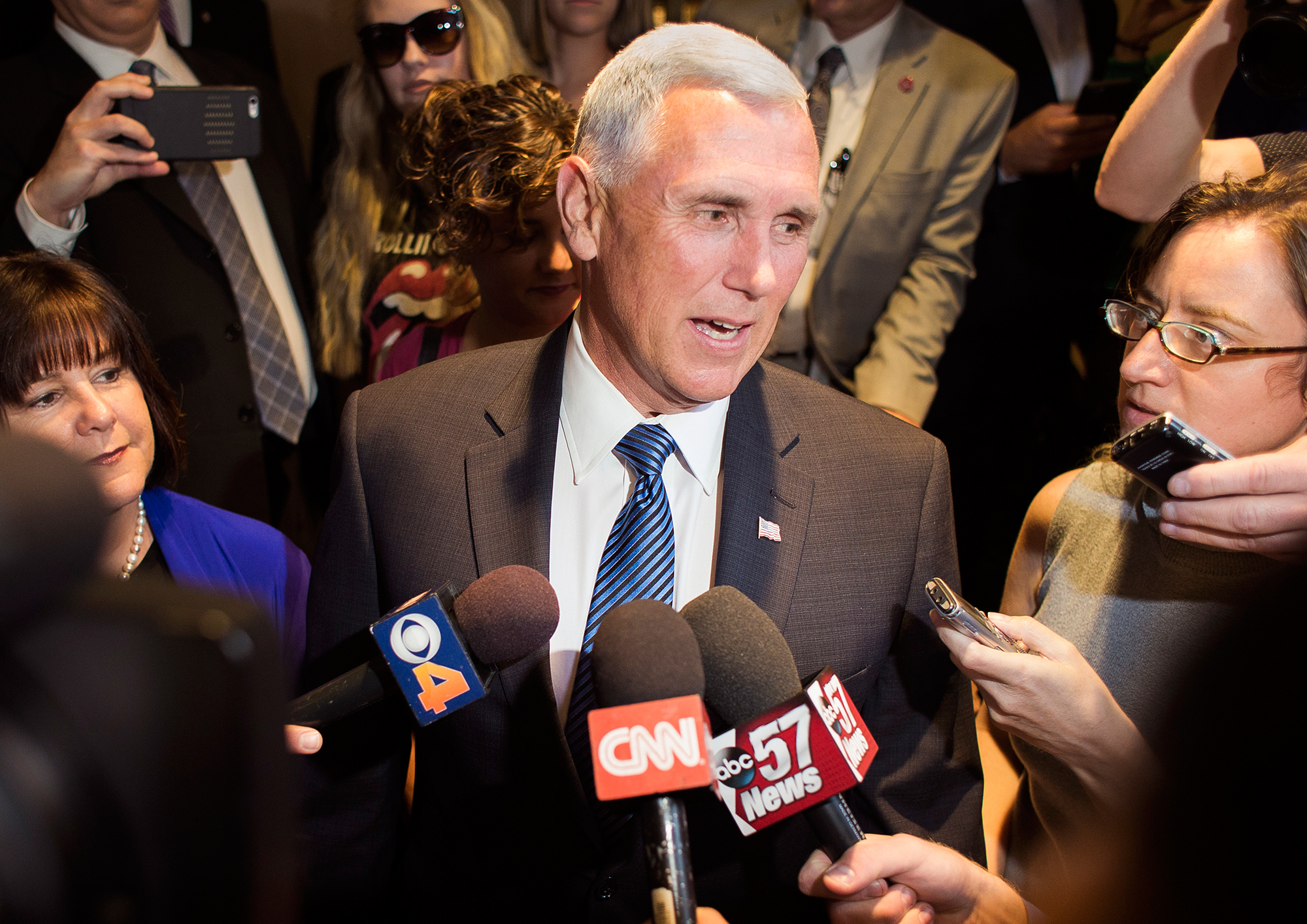 As Indiana Governor, Mike Pence's Health Policy Has Been Contentious