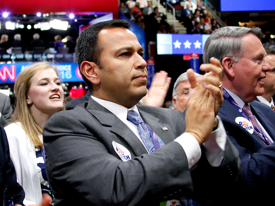 Ralph Alvarado, the first Hispanic elected to a state office in Kentucky, will speak at the Republican National Convention during prime time Wednesday. (Meg Kelly/NPR)