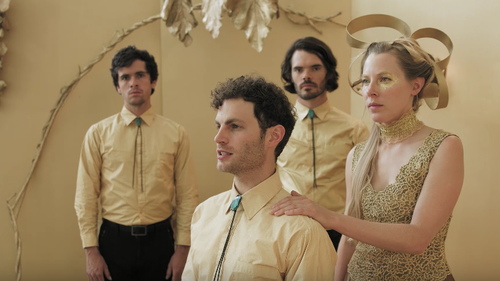 In its new video, the Asheville, N.C., folk band performs a new song while decked out in gold.