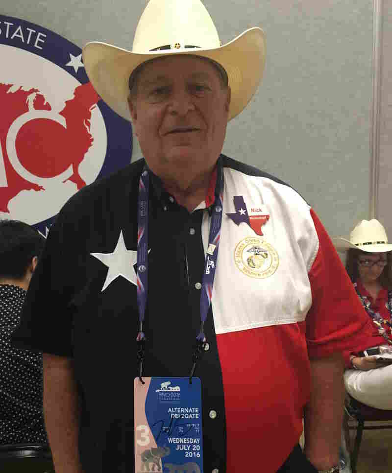 Nick Weidenkopf, an alternate delegate from Texas, had his credentials signed by Sen. Ted Cruz.