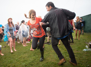 Joyful dancing is a part of every Newport Folk Festival.