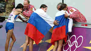 The fate of Russia's athletes for this summer's Olympics is cast further into doubt by a new setback. Here, Russian coaches and athletes are seen at the 2012 Summer Olympics in London.