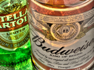 A 12-ounce bottle of Stella Artois contains 150 calories whereas a bottle of Budweiser Select, only 120.