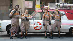 Patty Tolan (Leslie Jones), Abby Yates (Melissa McCarthy), Erin Gilbert (Kristen Wiig) and Jillian Holtzmann (Kate McKinnon) are the Ghostbusters.