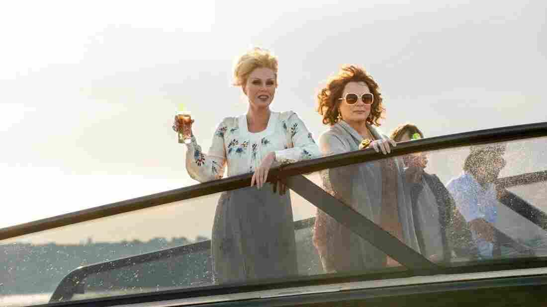 Patsy (Joanna Lumley) and Edina (Jennifer Saunders) in Absolutely Fabulous: The Movie.
