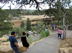 In 2016, Mesa Verde National Park officials closed Spruce Tree House because of crumbling rock. Previous restoration efforts and more extreme temperature swings, which may be connected to climate change, are two reasons why the staff here thinks rock is crumbling.
