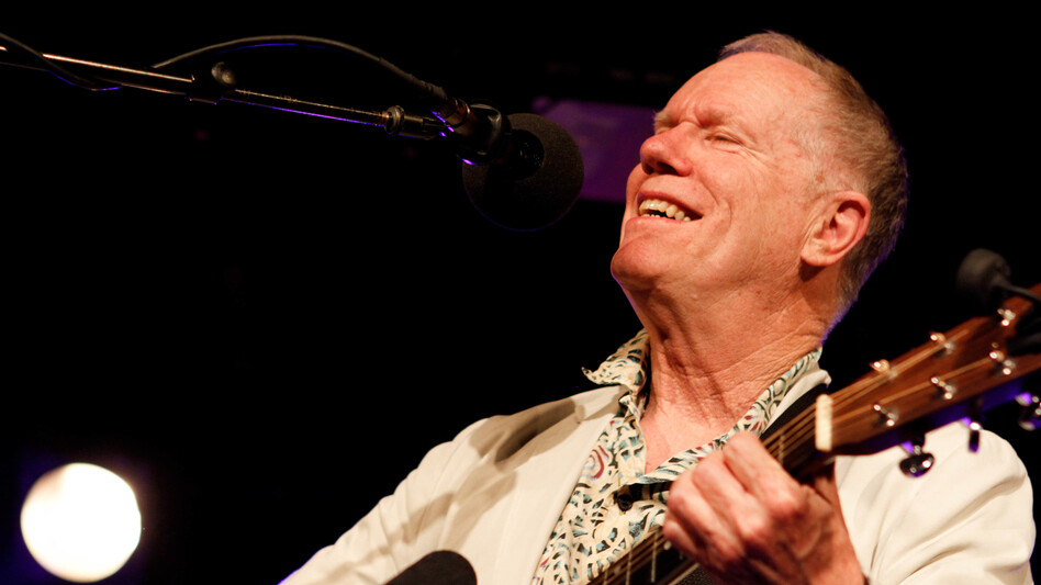 Singer-songwriter and actor Loudon Wainwright III performs on Ask Me Another at The Bell House in Brooklyn, New York. (NPR)