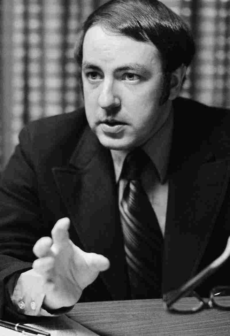 Political consultant Roger Ailes is shown in his office in New York in 1971. Ailes was a political adviser to many leading Republicans including Ronald Reagan, George H.W. Bush and Karl Rove.
