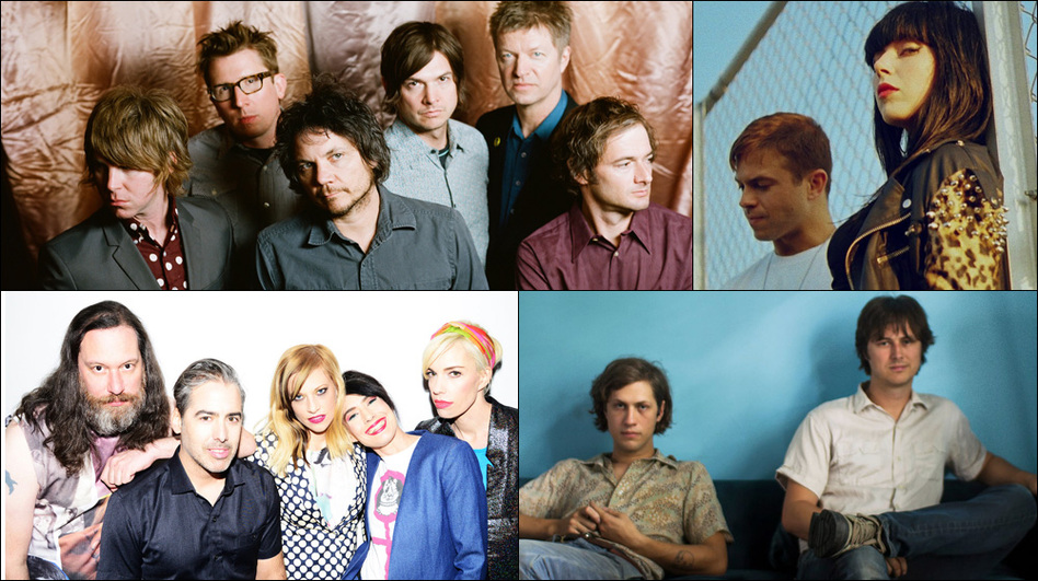 Top row: Wilco; middle row: The Julie Ruin; bottom left: Jeff The Brotherhood, Sleigh Bells (Courtesy of the artists)