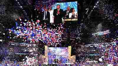 "As balloons fell after Republican presidential candidate Donald Trump accepted his party nomination last night, the Rolling Stones' ""You Can't Always Get What You Want' rang through the arena."