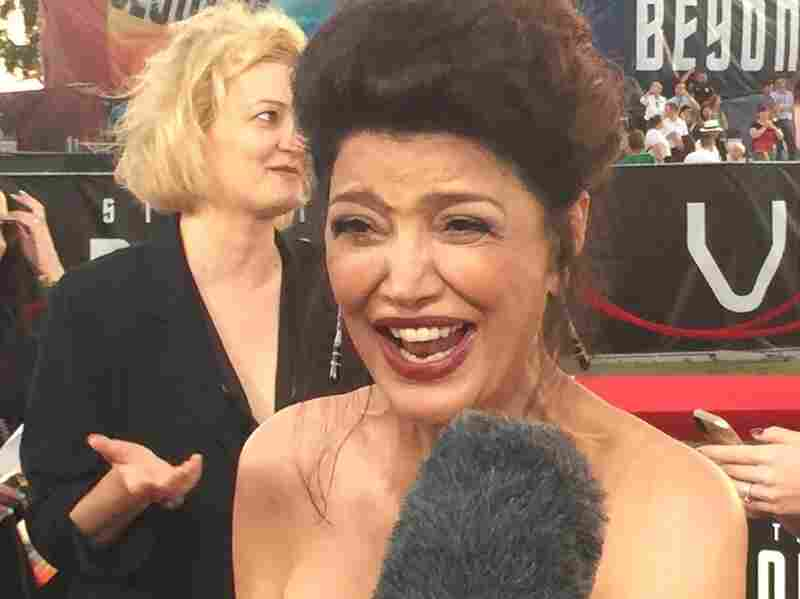 Shohreh Aghdashloo, who plays the High Command of the Federation: confused delight.