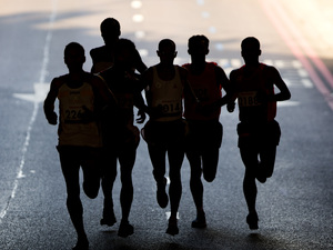Runners compete in the marathon at the 2012 Paralympics in London. The International Paralympic Committee said Friday it is investigating reports of widespread doping among Russia's disabled athletes and is considering banning the entire Russian team from the Paralympics in Brazil in September.