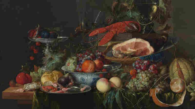 A Jan Davidsz de Heem still life with ham, lobster and fruit, circa 1653