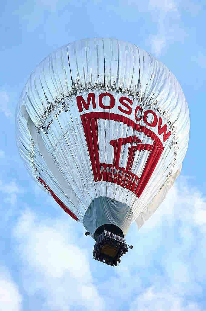 Fedor Konyukhov lifts off from the Northam Aero Club on July 12, 2016 in Northam, Australia.