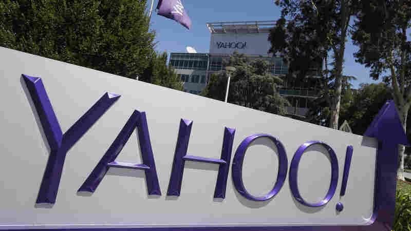 The Yahoo sign at the company's headquarters in Sunnyvale, Calif.