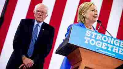 Democratic presidential candidate Hillary Clinton spoke as Bernie Sanders endorsed her earlier this month.