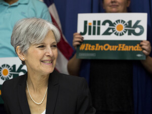 Jill Stein announced that she will seek the Green Party's presidential nomination on June 23, 2015 in Washington, D.C. Stein opposes both Clinton and Trump.