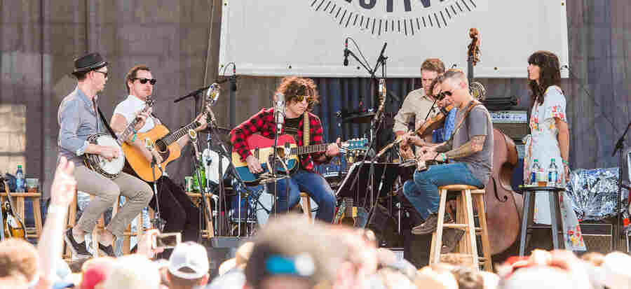 Ryan Adams performs at the 2016 Newport Folk Festival.