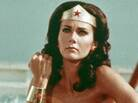 In this photo from 1977, Lynda Carter gets it done as one of many Wonder Woman.