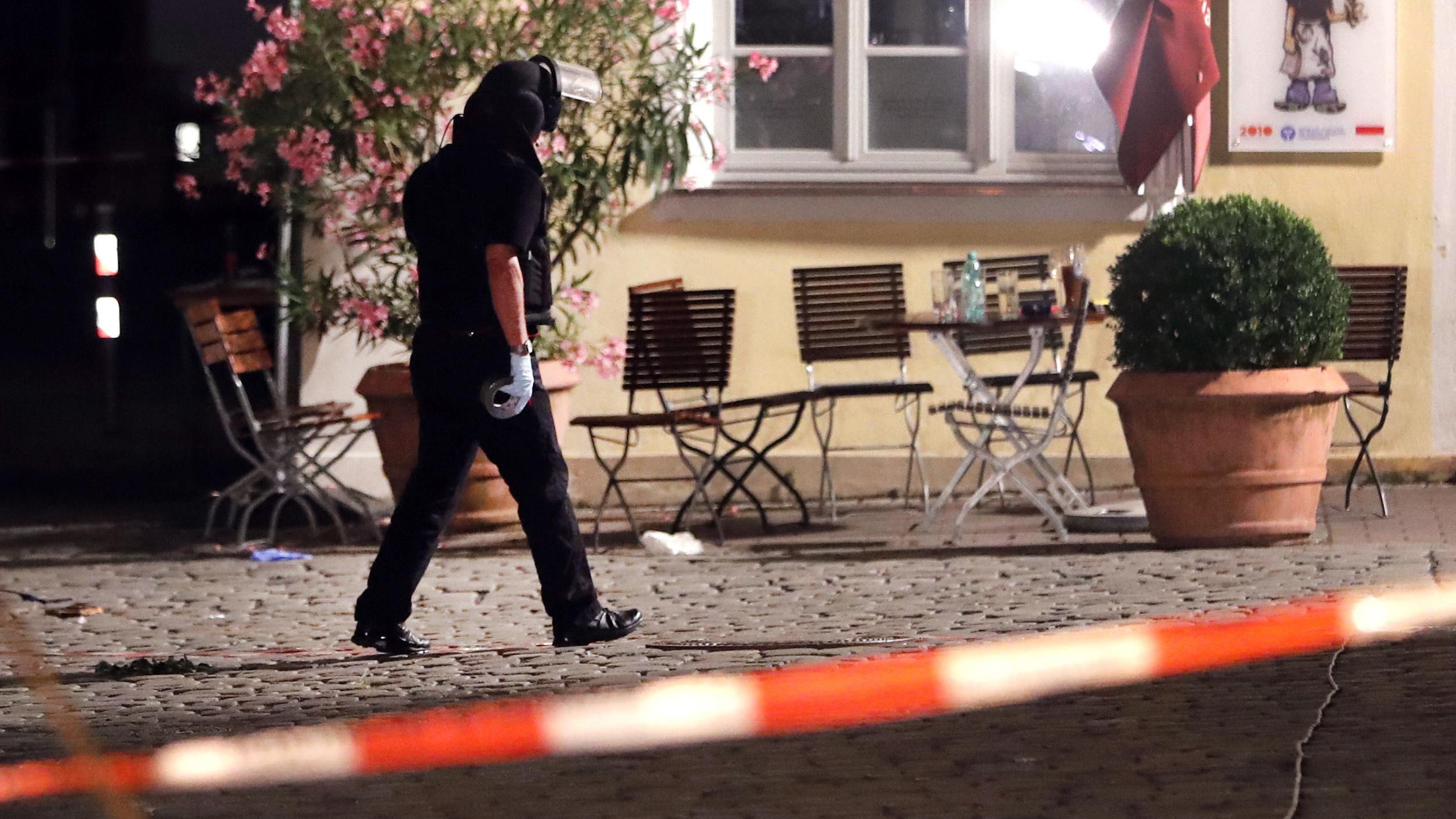 Syrian man detonates bomb near German music festival