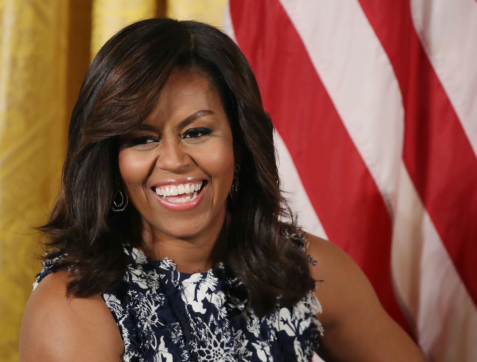 """First lady Michelle Obama hosts the third annual """"Beating the Odds"""" summit with future college students at the White House on July 19 in Washington, D.C. (Mark Wilson/Getty Images)"""