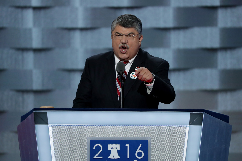 Richard Trumka, AFL-CIO president, delivers remarks on the first day of the Democratic National Convention. (Alex Wong/Getty Images)