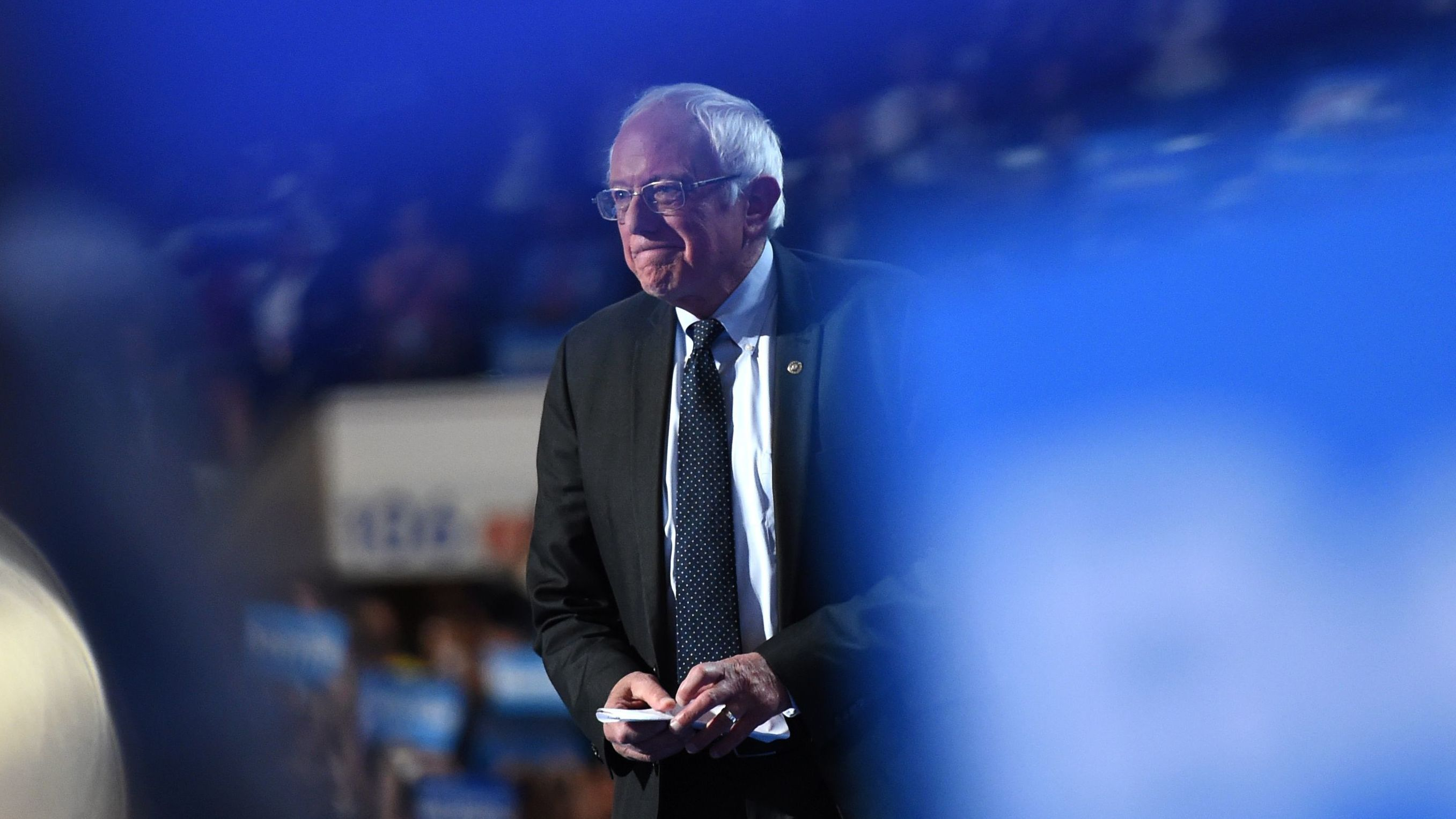 Sanders Closes A Night Of Disunity By Supporting Clinton