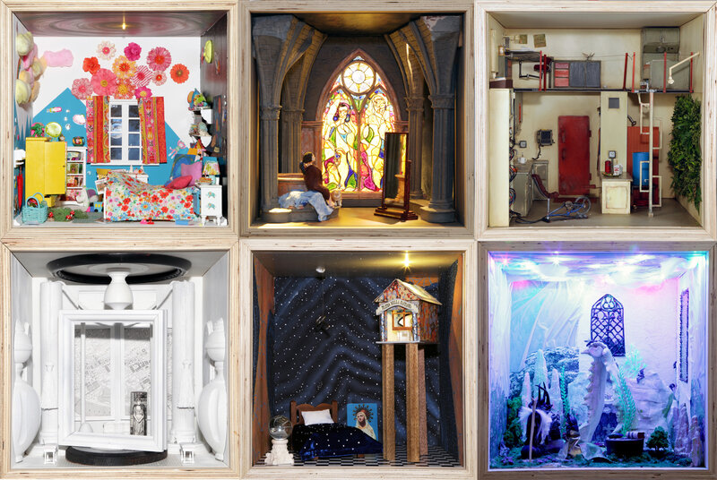 Small Stories At Home In A Dollhouse Exhibit On Display At