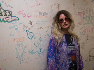 Elizabeth Cook outside the World Cafe performance studio at WXPN in Philadelphia.