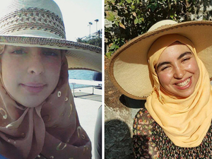 Two sisters, Majda (left) and Amina Belaroui, answered the call to volunteer for the French military reserves following the recent terrorist attack in Nice. But Majda refused to remove her headscarf and hijab, as required under a French law. Amina didn't want to remove her scarf and hijab, but reluctantly agreed to do so.