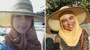 Two sisters, Majda (left) and Amina Belaroui, answered the call to volunteer for the French military reserves following the recent terrorist attack in Nice. But Majda refused to remove her headscarf and hijab, as required under a French law. Amina didn't want to remove her scarf and hijab but reluctantly agreed to do so.
