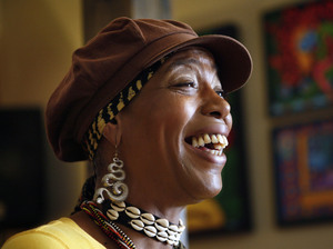 Cleo Harris, best-known as Miss Cleo, the face and voice of the Psychic Friends Network television ads, in February 2009 in Lake Worth, Fla., where she lived and hosted an Internet radio show.